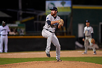 Lake County Captains relief pitcher Zach Draper (32) during a Midwest League game against the Beloit Snappers at Pohlman Field on May 6, 2019 in Beloit, Wisconsin. Lake County defeated Beloit 9-1. (Zachary Lucy/Four Seam Images)