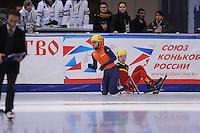 SHORT TRACK: MOSCOW: Speed Skating Centre ìKrylatskoeî, 15-03-2015, ISU World Short Track Speed Skating Championships 2015, World Champion Sjinkie KNEGT (#148   NED), ©photo Martin de Jong
