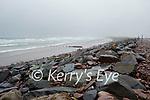 A wet windy Rossbeigh beach on Sunday