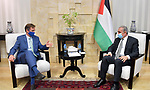 Palestinian Prime Minister Mohammed Ishtayeh meets with the representative of the European Union to Palestine, Sven Kohn von Burgsdorf, in the West Bank city of Ramallah, on October 10, 2020. Photo by Prime Minister Office