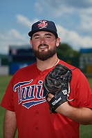 Elizabethton Twins pitcher Blair Lakso (51) poses for a photo before a game against the Bristol Pirates on July 29, 2018 at Joe O'Brien Field in Elizabethton, Tennessee.  Bristol defeated Elizabethton 7-4.  (Mike Janes/Four Seam Images)