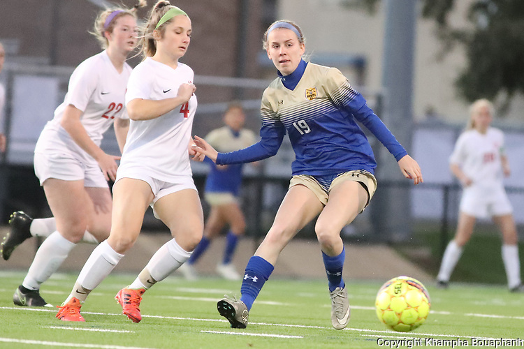 Boswell plays Grapevine in high school soccer on Friday, January 24, 2020. (Photo by Khampha Bouaphanh)