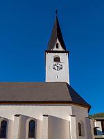 Kirche, Historisches Dorf Ardez, Scuol, Unterengadin, Graubünden, Schweiz, Europa<br /> Church in Historic village Ardez, Scuol, Engadine, Grisons, Switzerland