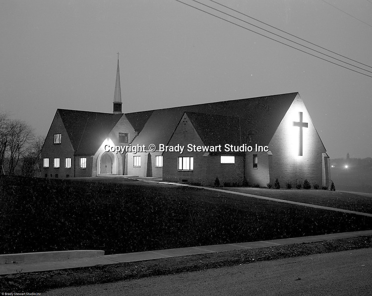 Mt Lebanon PA:  View of the Our Savior Lutheran Church on Country Club Road in the Sunset Hills Section of Mt. Lebanon.