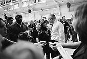 New England College.Henniker, New Hampshire.January 25, 2004..Democratic presidential contender General Wesley Clark back stage after a rally at New England College.