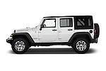 Car Driver side profile view of a 2017 JEEP Wrangler-Unlimited Rubicon 5 Door SUV Side View