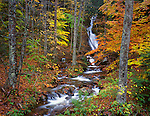 Green Mountain National Forest, VT<br /> Little Moss Glen Falls (Granville) on Deer Hollow Brook in late fall, Granville Gulf State Reservation