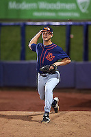 Bowing Green Hot Rods infielder Matt Eureste (33) warms up to pitch in the bullpen during a game against the Quad Cities River Bandits on July 24, 2016 at Modern Woodmen Park in Davenport, Iowa.  Quad Cities defeated Bowling Green 6-5.  (Mike Janes/Four Seam Images)