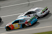 #18: Kyle Busch, Joe Gibbs Racing, Toyota Camry M&M's Hazelnut #2: Brad Keselowski, Team Penske, Ford Mustang Miller Lite