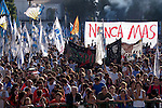 Argentinians commemorated the 37th anniversary of the coup of 1976, at Plaza de Mayo square