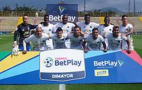 BOGOTA - COLOMBIA, 09-11-2020: Fortaleza CEIF y Llaneros F.C., durante partido por la fecha 16 del Torneo BetPlay DIMAYOR 2020 en el estadio Metropolitano de Techo de la ciudad de Bogota. / Fortaleza CEIF and Llaneros F.C., during a match for the 16th date of the BetPlay DIMAYOR 2020 Tournament  at the Metropolitano de Techo stadium in Bogota city. / Photo: VizzorImage / Daniel Garzon / Cont.