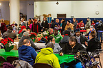 WATERBURY, CT. 21 December 2019-122119BS290 - More than 400 people pack the basement for a Christmas Party for the less fortunate and homeless at the Basilica of Immaculate Conception in Waterbury on Saturday. Bill Shettle Republican-American