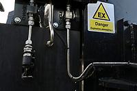 Germany, New Holland Tractor powered by BioMethan gas CNG / DEUTSCHLAND, Damnatz im Wendland, Hof und Biogasanlage von Horst Seide, neuer New Holland Traktor T6.180 mit Methanpower mit Gasmotor und Biomethan bzw. CNG Gas Antrieb im Test, Zusatztank für CNG