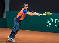 The Hague, The Netherlands, September 11, 2017,  Sportcampus , Davis Cup Netherlands - Chech Republic, training, Captain Paul Haarhuis <br /> Photo: Tennisimages/Henk Koster