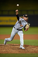 Mesa Solar Sox relief pitcher Isaac Mattson (21), of the Los Angeles Angels organization, during an Arizona Fall League game against the Salt River Rafters on September 19, 2019 at Salt River Fields at Talking Stick in Scottsdale, Arizona. Salt River defeated Mesa 4-1. (Zachary Lucy/Four Seam Images)