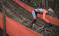 Mathieu Van der Poel (NED/Beobank-Corendon) on the steep muddy descent<br /> <br /> Elite Men's Race<br /> UCI 2017 Cyclocross World Championships<br /> <br /> january 2017, Bieles/Luxemburg