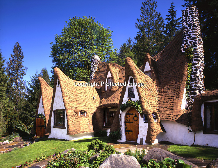 Fulltime fireman and part time Storybook style builder, Richey Morgan, built this 2500 square foot house on a five acre lot in the appropriately named community of Olalla, Washington.