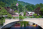 Reflections under the Bridge of Flowers, an attraction in Shelburne Falls, MA, USA