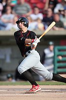 May 25, 2008: Quad Cities River Bandits Pete Kozma (7) at bat against the Kane County Cougars at Elfstrom Stadium in Geneva, IL. Photo by: Chris Proctor/Four Seam Images