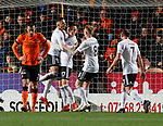 30.11.2018 Dundee Utd v Ayr Utd: Lawrence Shankland celebrates goal no 2