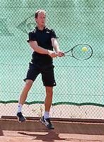 August 24, 2014, Netherlands, Amstelveen, De Kegel, National Veterans Championships, Bernard Jonkman (NED)<br /> Photo: Tennisimages/Henk Koster