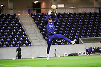 WIENER NEUSTADT, AUSTRIA - NOVEMBER 16: Zack Steffen #1 of the United States warming up before a game between Panama and USMNT at Stadion Wiener Neustadt on November 16, 2020 in Wiener Neustadt, Austria.