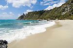 Italy, Calabria, near Protea: coastline and beach at Capo Vaticano
