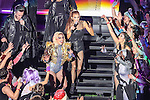 Lady GaGa performs during the half time show of Super Bowl LI at the NRG Stadium in Houston, Texas.
