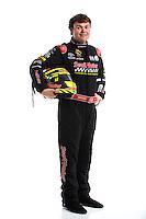 Feb 8, 2017; Pomona, CA, USA; NHRA top fuel driver Troy Coughlin Jr poses for a portrait during media day at Auto Club Raceway at Pomona. Mandatory Credit: Mark J. Rebilas-USA TODAY Sports