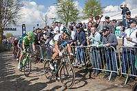 Peter Sagan (SVK/Bora-Hansgrohe) up the Oude Kwaremont (2nd passage)<br /> <br /> 101st Ronde van Vlaanderen  2017 (1.UWT)<br /> 1day race: Antwerp-Oudenaarde (260km)