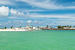 The port area of the capital London in Kiritimati, Kiribati