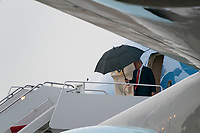U.S. President Donald Trump exits Air Force One and enters the Presidential Motorcade at Joint Base Andrews on September 25, 2020 in Maryland.-Trump is expected to attend a roundtable with supporters at the Trump International Hotel before flying to Newport News, Virginia before returning to the White House later tonight.  <br /> CAP/MPI/RS<br /> ©RS/MPI/Capital Pictures