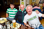Sean Collins, Paul Williams and John Collins enjoying the evening in the Brogue Inn on Saturday