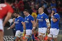 Guglielmo Palazzini, Abraham Steyn, Sergio Parisse Italy.<br />  <br /> Roma 9-02-2019 Stadio Olimpico<br /> Rugby Six Nations tournament 2019  <br /> Italy - Wales <br /> Foto Antonietta Baldassarre / Insidefoto