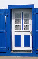 Europe/France/Bretagne/29/Finistère/Ile de Sein: Détail d'une maison qur le quai du port