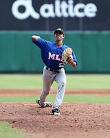 Wuilliam Hernandez participates in the MLB International Showcase at Estadio Quisqeya on February 22-23, 2017 in Santo Domingo, Dominican Republic.