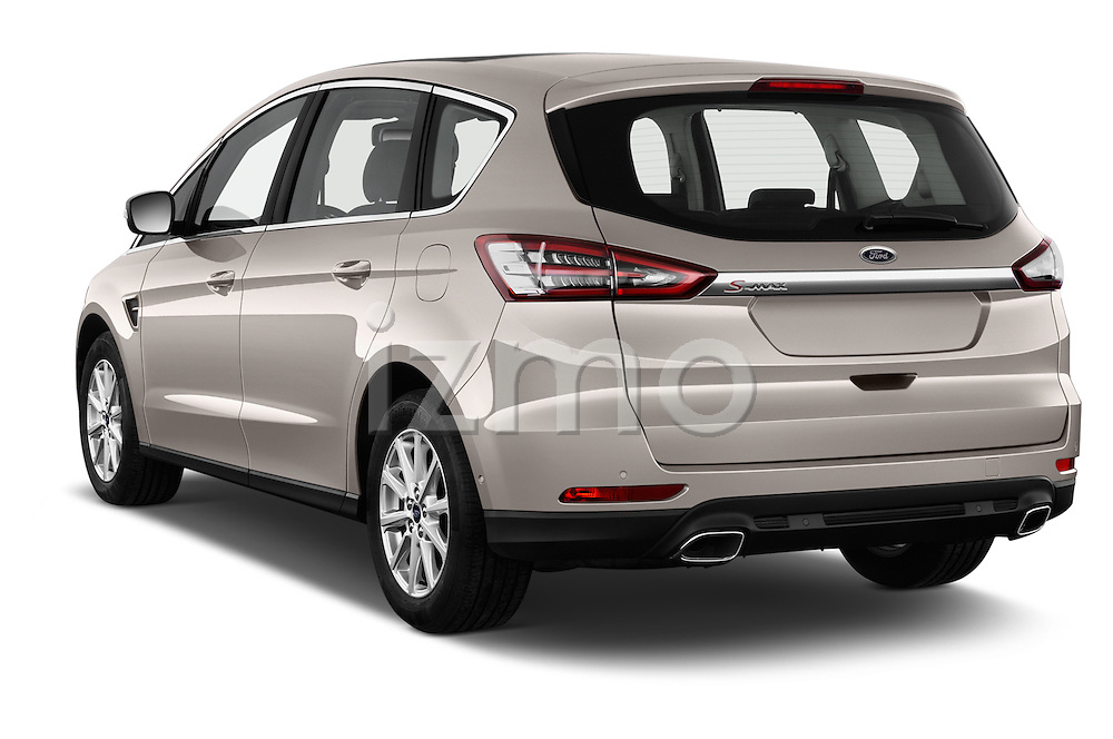 Car pictures of rear three quarter view of 2016 Ford S-Max Titanium 5 Door Minivan Angular Rear