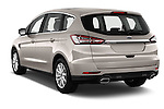 Car pictures of rear three quarter view of 2016 Ford S-Max Titanium 5 Door Minivan Angular Rear