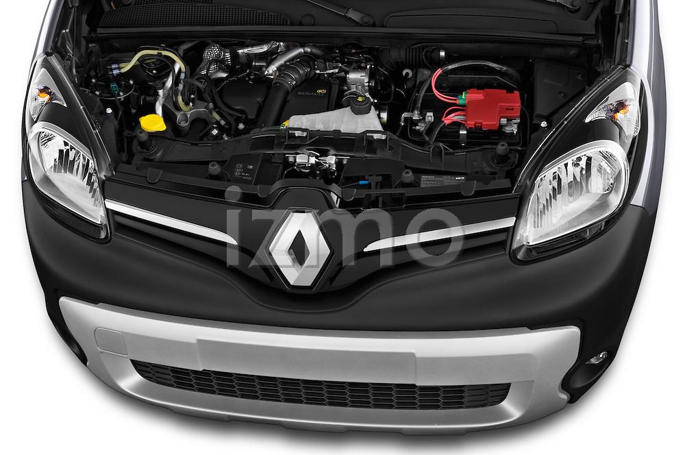 High angle engine detail of a 2013 - 2014 Renault Kangoo eXtrem Mini MPV.