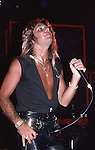 Vince Neil of Motley Crue  at The Roxy in Hollywood Aug 1986.