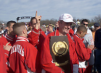 Arkansas Democrat-Gazette/BOB COLEMAN--Members of the University of Arkansas Mens Cross Country gather around coach John McDonnell to celebrate their ninth NCAA win Monday afternoon in  Lawrence, KS. 11/23/98
