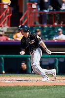 Akron RubberDucks Alex Call (7) at bat during an Eastern League game against the Erie SeaWolves on June 2, 2019 at UPMC Park in Erie, Pennsylvania.  Erie defeated Akron 8-5 in eleven innings of the second game of a doubleheader.  (Mike Janes/Four Seam Images)