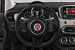 Car pictures of steering wheel view of a 2017 Fiat 500X Lounge 5 Door SUV Steering Wheel