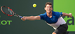March 29 2016: Dominic Thiem (AUT) loses to Novak Djokovic (SRB) 6-3, 6-4, at the Miami Open being played at Crandon Park Tennis Center in Miami, Key Biscayne, Florida. ©Karla Kinne/Tennisclix/Cal Sports Media