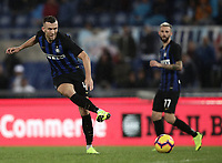 Calcio, Serie A: SS Lazio vs Internazionale Milano, Olympic stadium, Rome, October 29, 2018.<br /> Inter's Ivan Perisic in action during the Italian Serie A football match between SS Lazio and Inter Milan at Rome's Olympic stadium, on October 29, 2018.<br /> UPDATE IMAGES PRESS/Isabella Bonotto