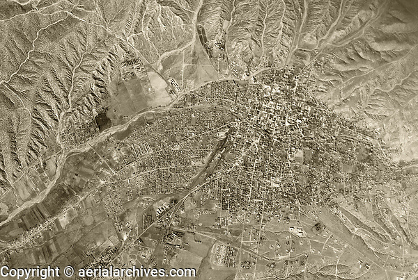 historical aerial photograph Santa Fe, New Mexico, 1948