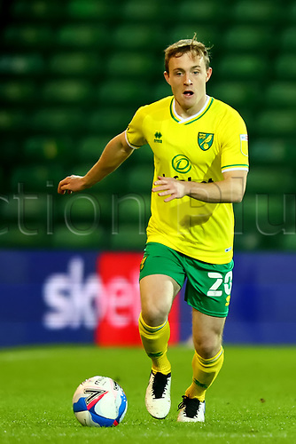 3rd November 2020; Carrow Road, Norwich, Norfolk, England, English Football League Championship Football, Norwich versus Millwall; Oliver Skipp of Norwich City