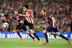 Athletic de Bilbao's Benat Etxebarria (l) and FC Barcelona's Ivan Rakitic during Spanish King's Cup Final match. May 30,2015. (ALTERPHOTOS/Acero)