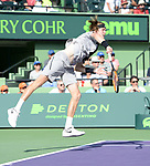 March 31 2018: Karen Khachanov & Andrey Rublev (RUS) lose to Bob & Mike Brian (USA) 6-4, 6-7 (5), 4-10, at the Miami Open being played at Crandon Park Tennis Center in Miami, Key Biscayne, Florida. ©Karla Kinne/Tennisclix/CSM