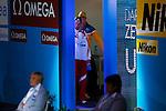 Aya Terakawa (JPN), <br /> JULY 30, 2013 - Swimming : Aya Terakawa (black cap) of Japan before the women's 100m backstroke final at the 15th FINA Swimming World Championships at Palau Sant Jordi arena in Barcelona, Spain.<br /> (Photo by Daisuke Nakashima/AFLO)